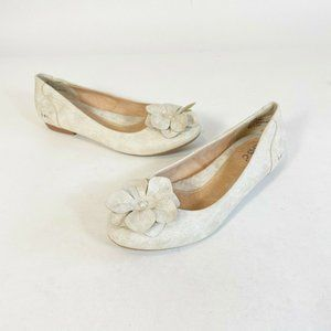 BOC by Born Champagne Emalia Floral Slip On Round Toe Flats Women's US 6.5M